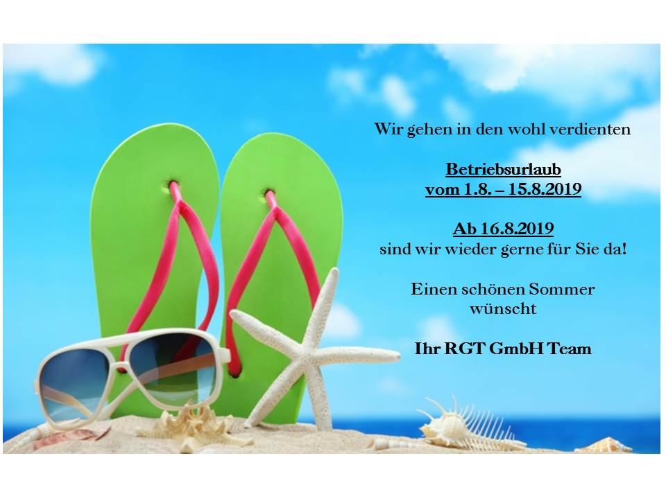 Urlaub 2019 RGT